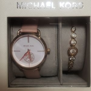 MK 2pc Rose Gold Watch Set